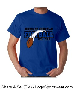 Flying Football - Unisex Gildan 100% Cotton Adult T-Shirt Design Zoom